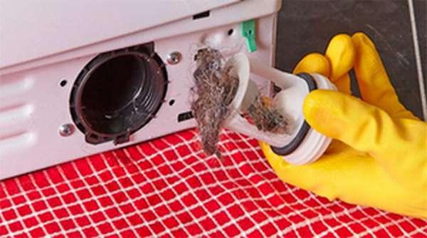 Засорение сливного фильтра стиральной машины
