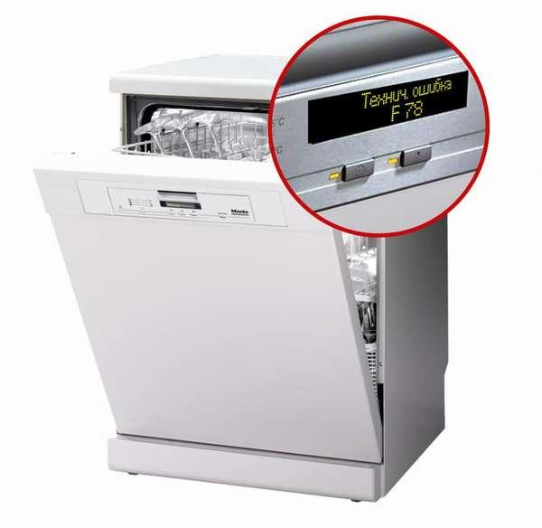 Коды ошибок посудомоечных машин Miele