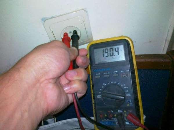 низкое напряжение в электросети