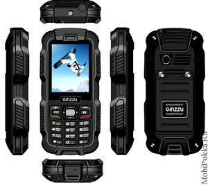 GiNZZU R6 Dual Black - телефон для туристов и рыбаков