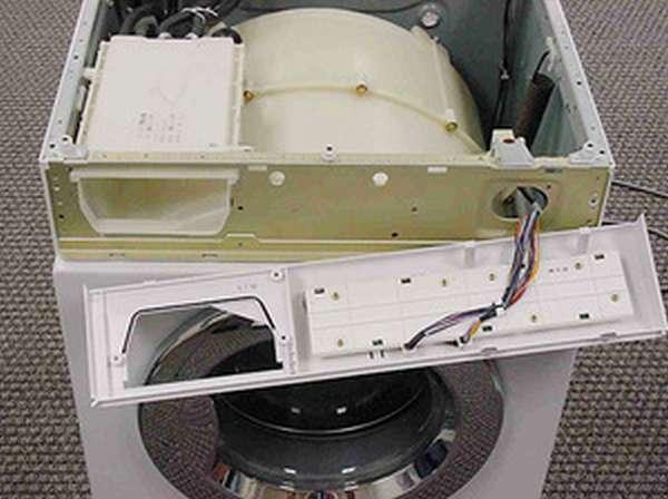 Описание начального этапа разборки стиральной машины Индезит