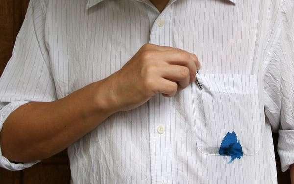 Как удалить пятна на рубашке