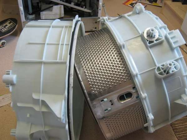 Разборка бака стиральной машины