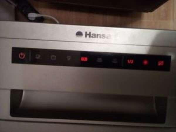 Ошибка e1 в посудомоечной машине Hansa