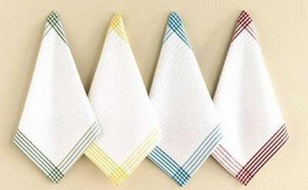 Как легко отбелить кухонные полотенца и солфетки