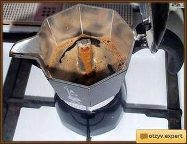 Извержение из кофеварки