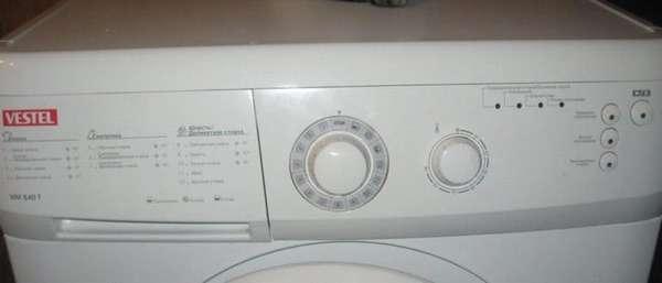 Коды ошибок стиральной машины Vestel