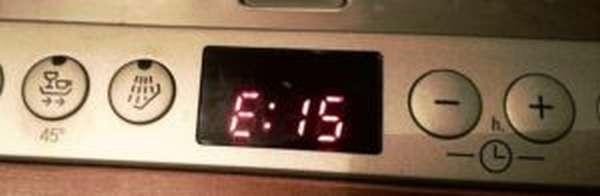 Ошибка Е15 в посудомоечной машине Bosch