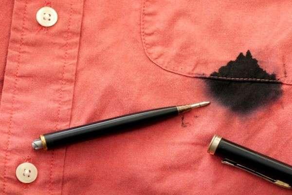 Пятно от чернильной ручки
