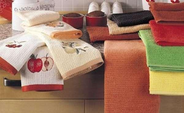 Как отбелить кухонные полотенца