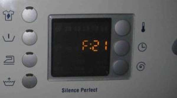 ошибка F21 в стиральных машинах Сименс