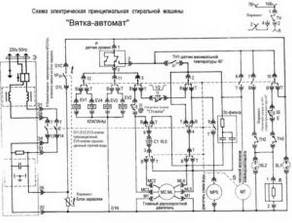 Электрическая схема стиральной машины