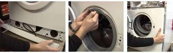 Демонтаж передней панели стиральной машины Samsung