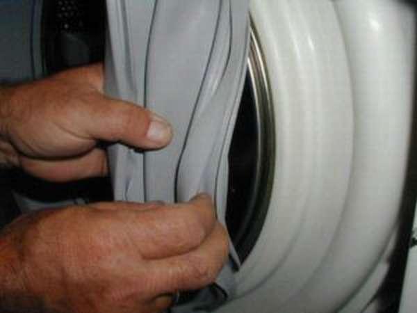 Как снять резину с барабана стиральной машины