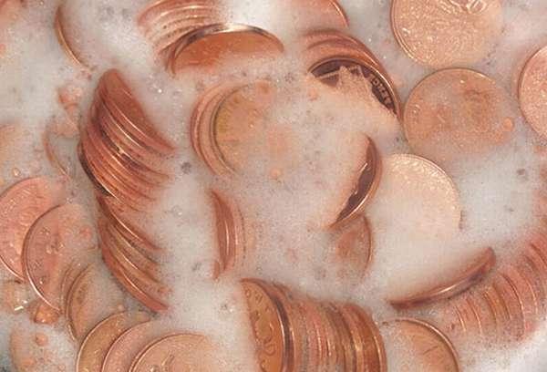 Медные монеты вернули старый блеск.