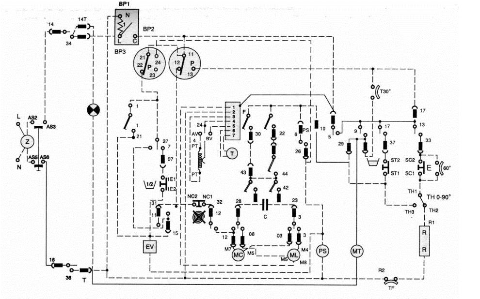 Схема стиральной машины Ардо
