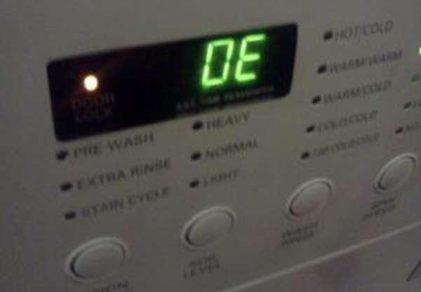 Стиральная машина LG ошибка OE