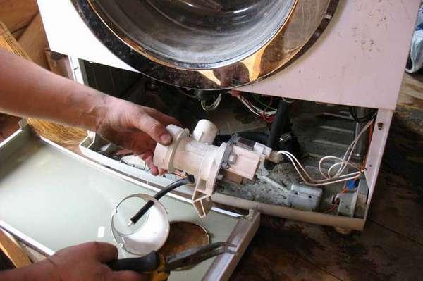 Проверка сливного насоса стиральной машины
