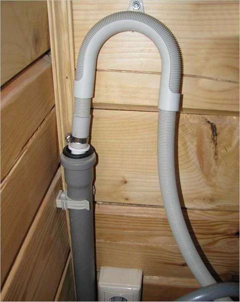 подключение сливного шланга к канализации