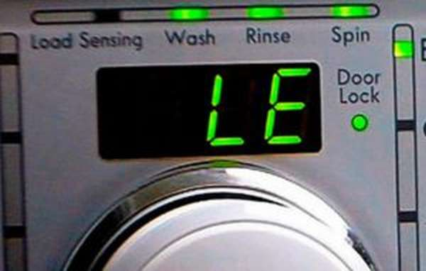 Ошибка LE на стиральной машине LG