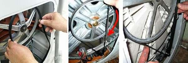 Как поставить ремень на стиральную машину