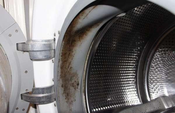 Грязная манжета стиральной машины
