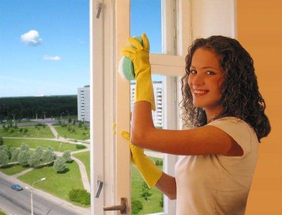 Правильное мытье пластиковых окон