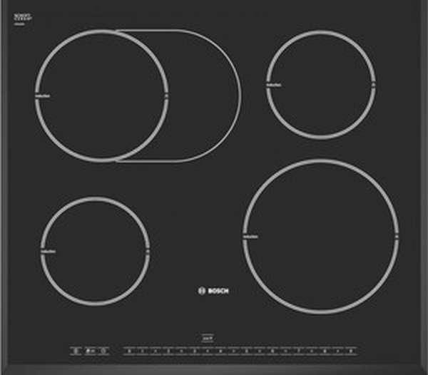 Индукционная плита с 5 комфорками