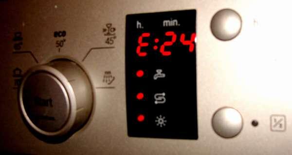 Ошибка Е24 в посудомоечной машине Bosch