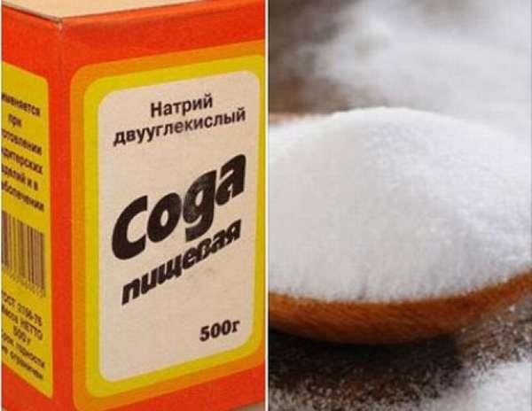 Благодаря химической реакции, сода имеет хорошие очистные свойства.