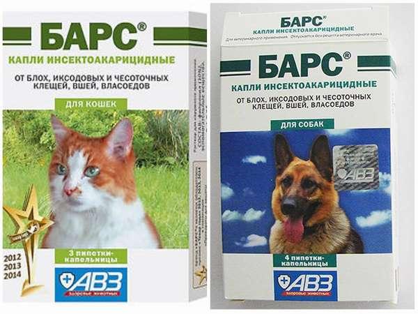 Спрей Барс от блох для кошек и собак инструкция по применению отзывы
