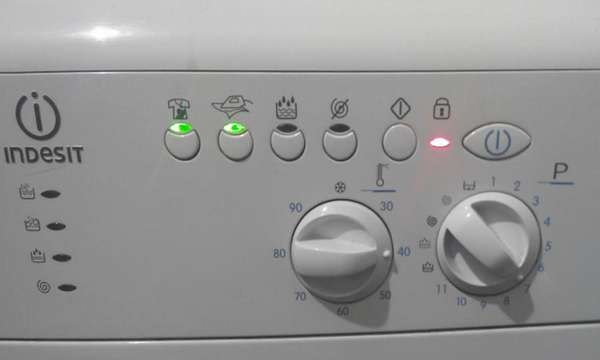 код ошибки стиральная машина индезит