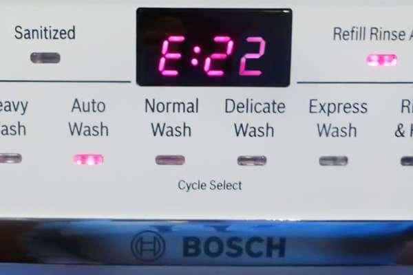 Ошибка Е22 в посудомоечной машине Bosch