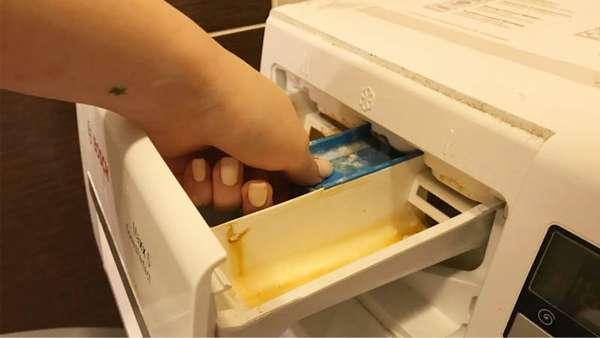 Чистка лотка для моющих сретств