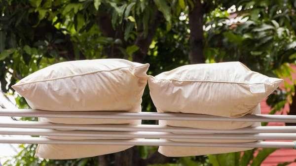 Сушка бамбуковых подушек