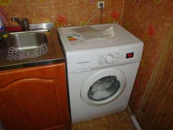 вопрос установки стиральной машины на кухне