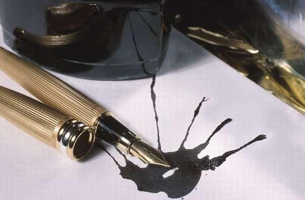 Как удалить чернильное пятно легко и без последствий для ткани