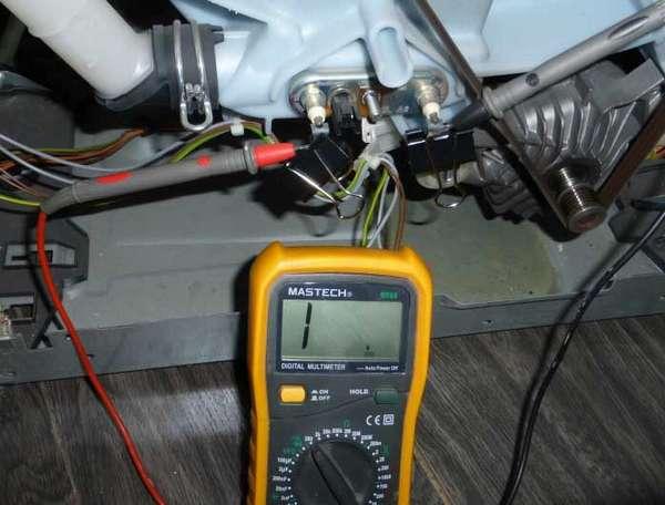 Проверка тэна стиральной машины мультиметром