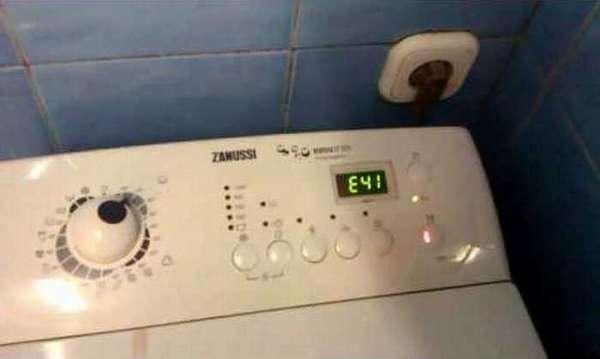 Коды ошибок стиральной машины Занусси