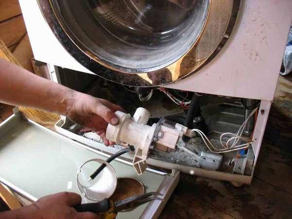 Замена помпы стиральной машины