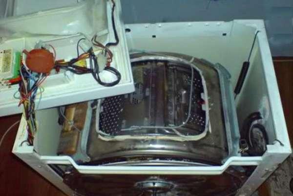 Как разобрать вертикальную стиральную машину