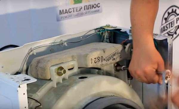 Демонтаж противовесов стиральной машины Samsung