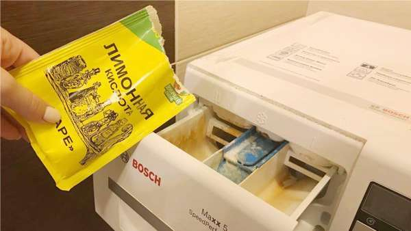 Чистка стиральной машины лимонной кислотой