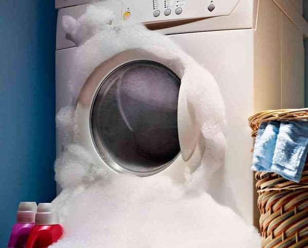 Избыток пены в стиральной машине