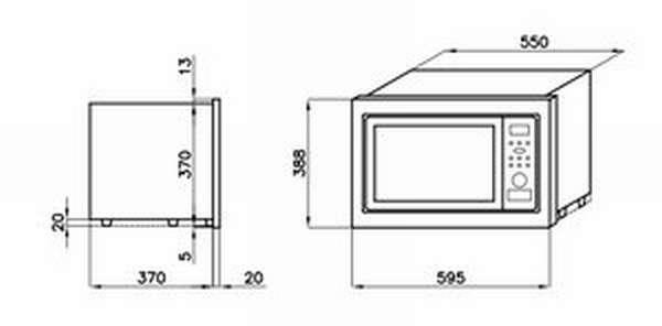 Размеры микроволновой печи