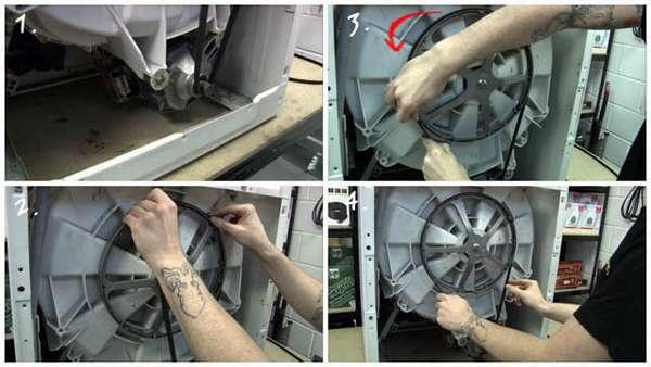 Замена приводного ремня стиральной машины
