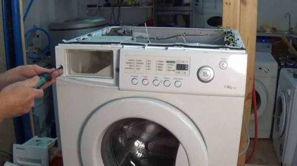 Демонтаж дозатора стиральной машины Samsung