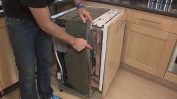 Регулировка двери посудомоечной машины