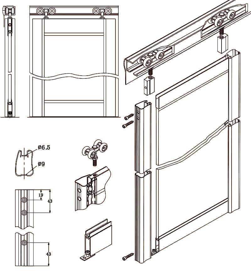 Как устроен механизм шкафа купе